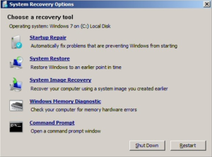 восстановление загрузки windows