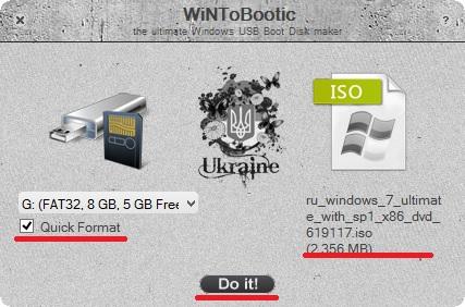 Запись Windows 8 на флешку с помощью winToBootic