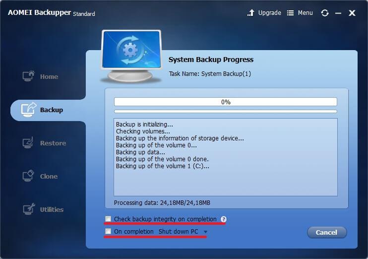 aomei backupper как пользоваться программой