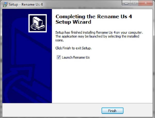 Установка программы Rename Us на компьютер