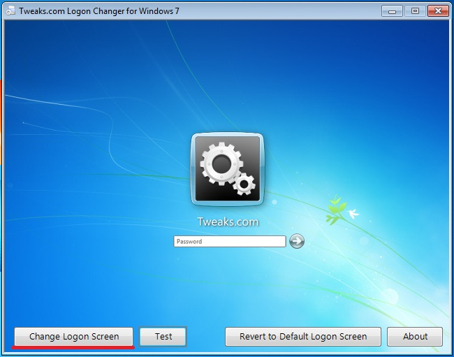 Как изменит экран приветствия Windows 7