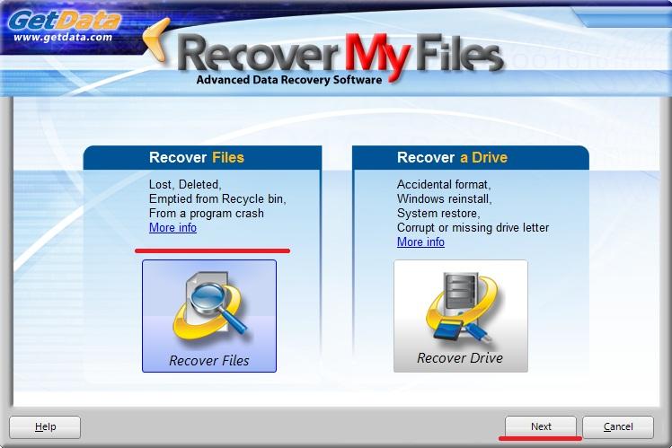 восстановление Recover My Files