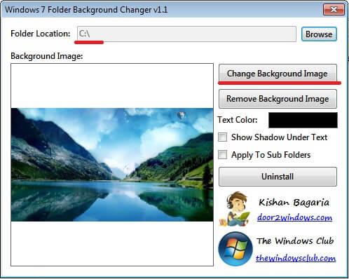 Как изменить фон папки в Windows 7
