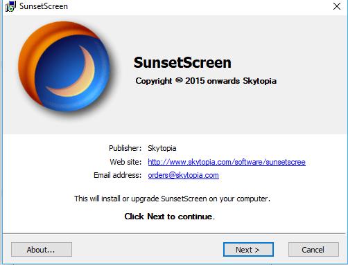 фото SunsetScreen Настройка яркости монитора